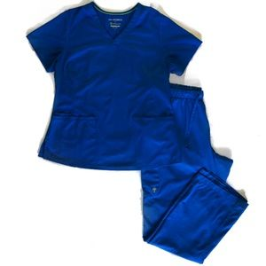HH Works Royal Blue Scrub Set